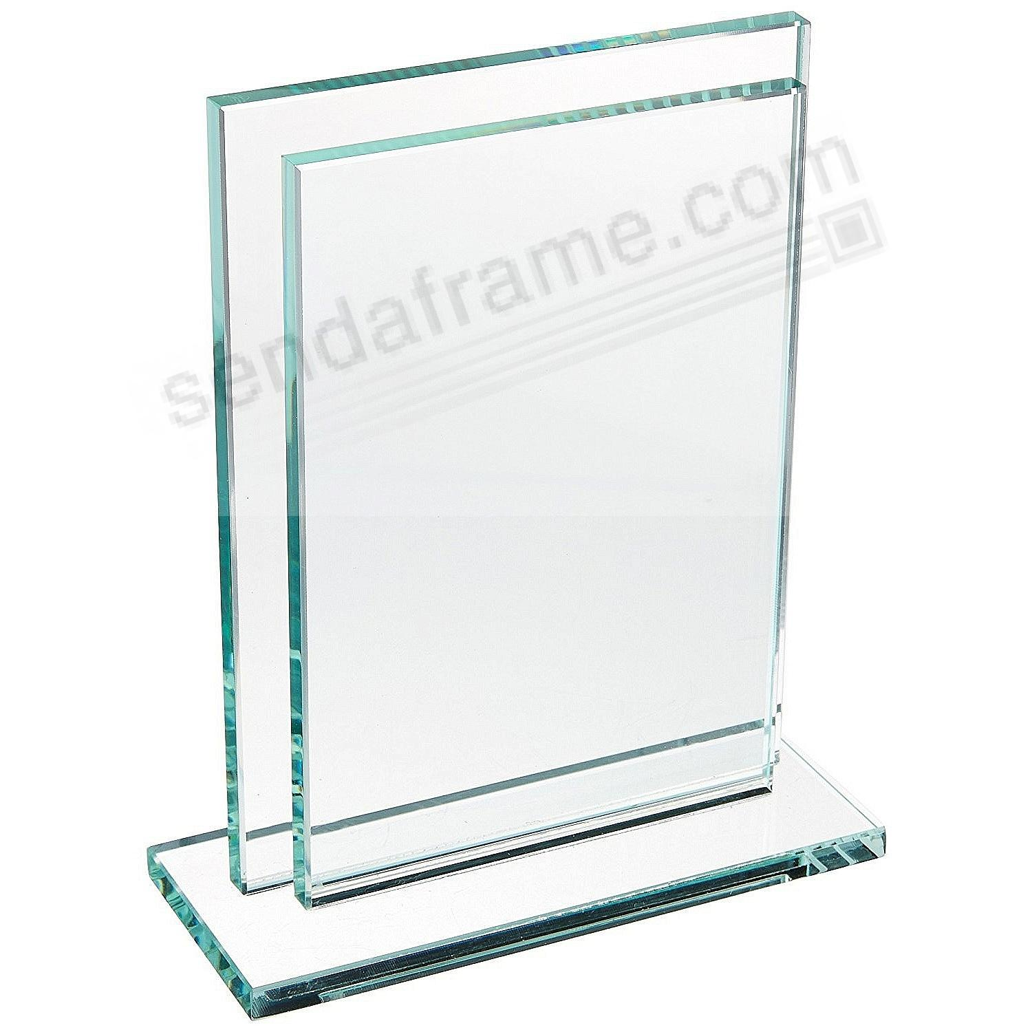 Deco solid glass sleeve frame wbase floats your 5x7 photo deco solid glass sleeve frame wbase jeuxipadfo Image collections