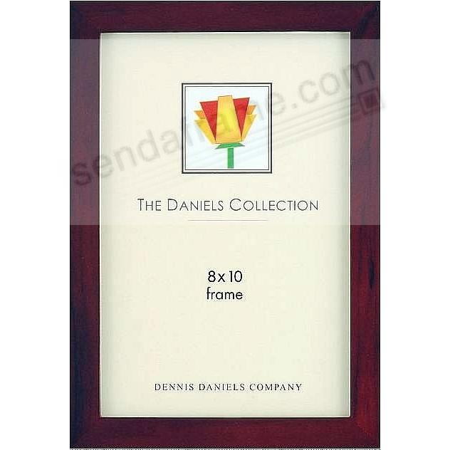The Original DANIELS W41: Square Corner GALLERY WOODS classic in dark walnut-brown by Dennis Daniels®