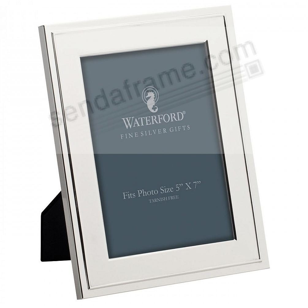 The CLASSIC 5x7 frame<br>by Waterford&reg; Silver