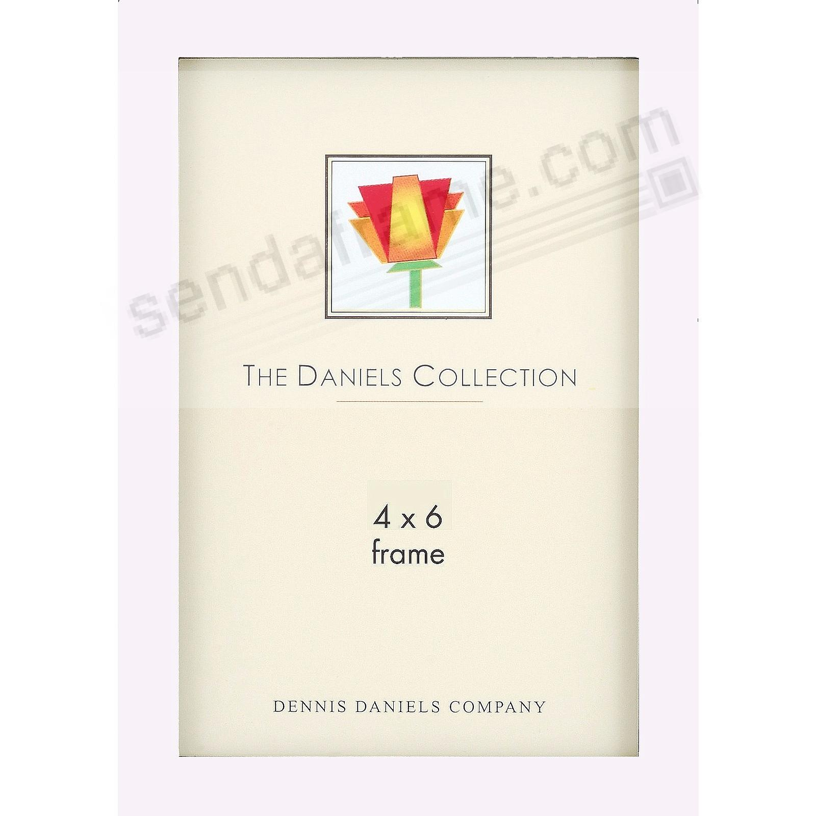 The Original DANIELS W41: Square Corner GALLERY WOODS 4x6 white stained hardwood by Dennis Daniels®