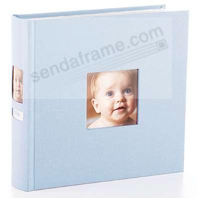 Baby-blue album with spine photo frame by Babyprints® / Pearhead®