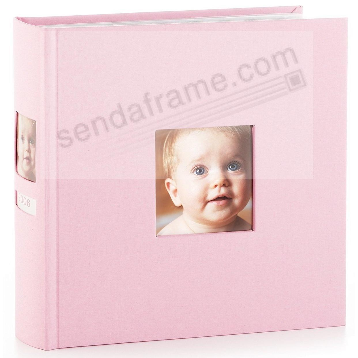 Baby-Pink album with spine photo by Babyprints® / Pearhead®