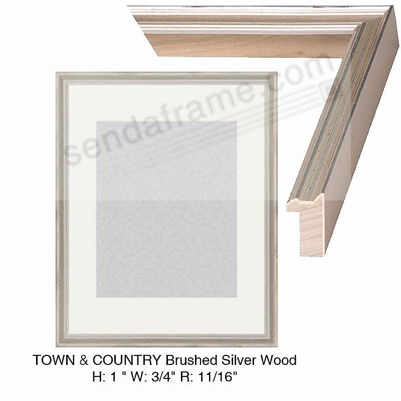 Custom-Cut™ TOWN + COUNTRY Brushed-Silver Wood H:1 W:3/4 R:11/16