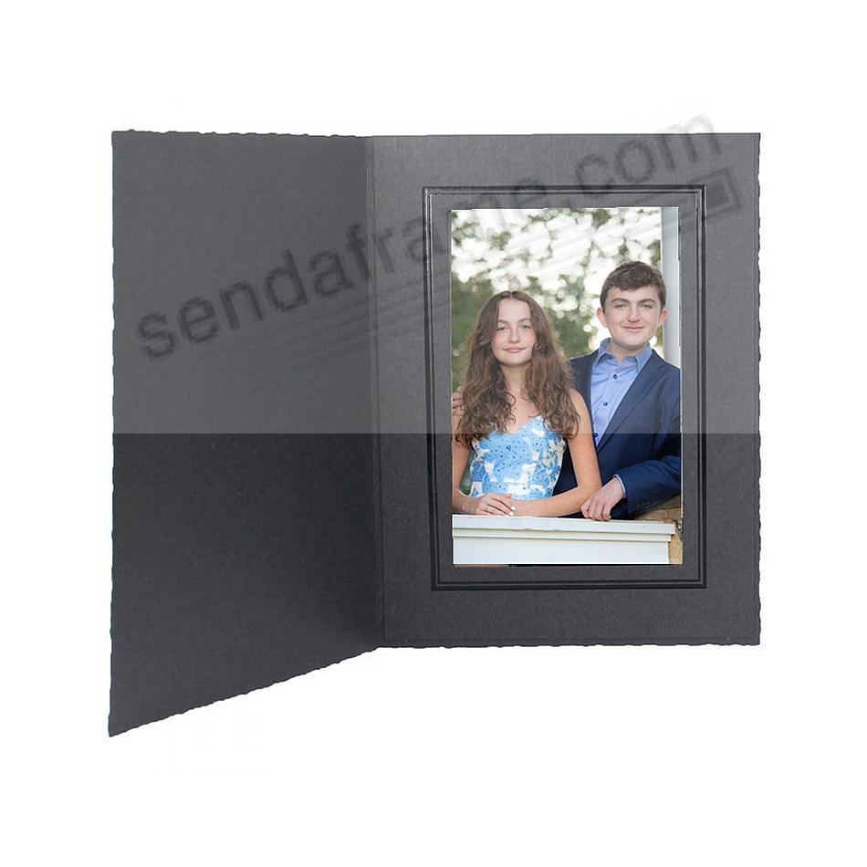 Black cardboard portrait folder frame<br>w/black foil border (sold in 25s)