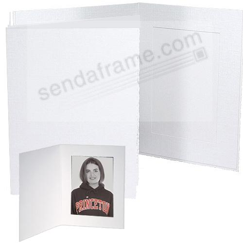 Polaroid™ size white portrait folder frames (sold in 25s)