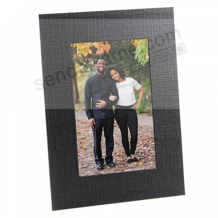Black Cardstock 4x6 Photo Easel frame w/plain border (sold in 25s)