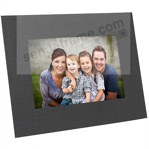 Black cardstock Dual-Easel photo 8x10 frame w/plain border (sold in 25s)
