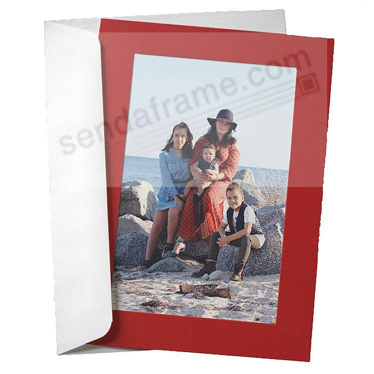 SIMPLICITY RED Photo Insert Card (sold in 10s)