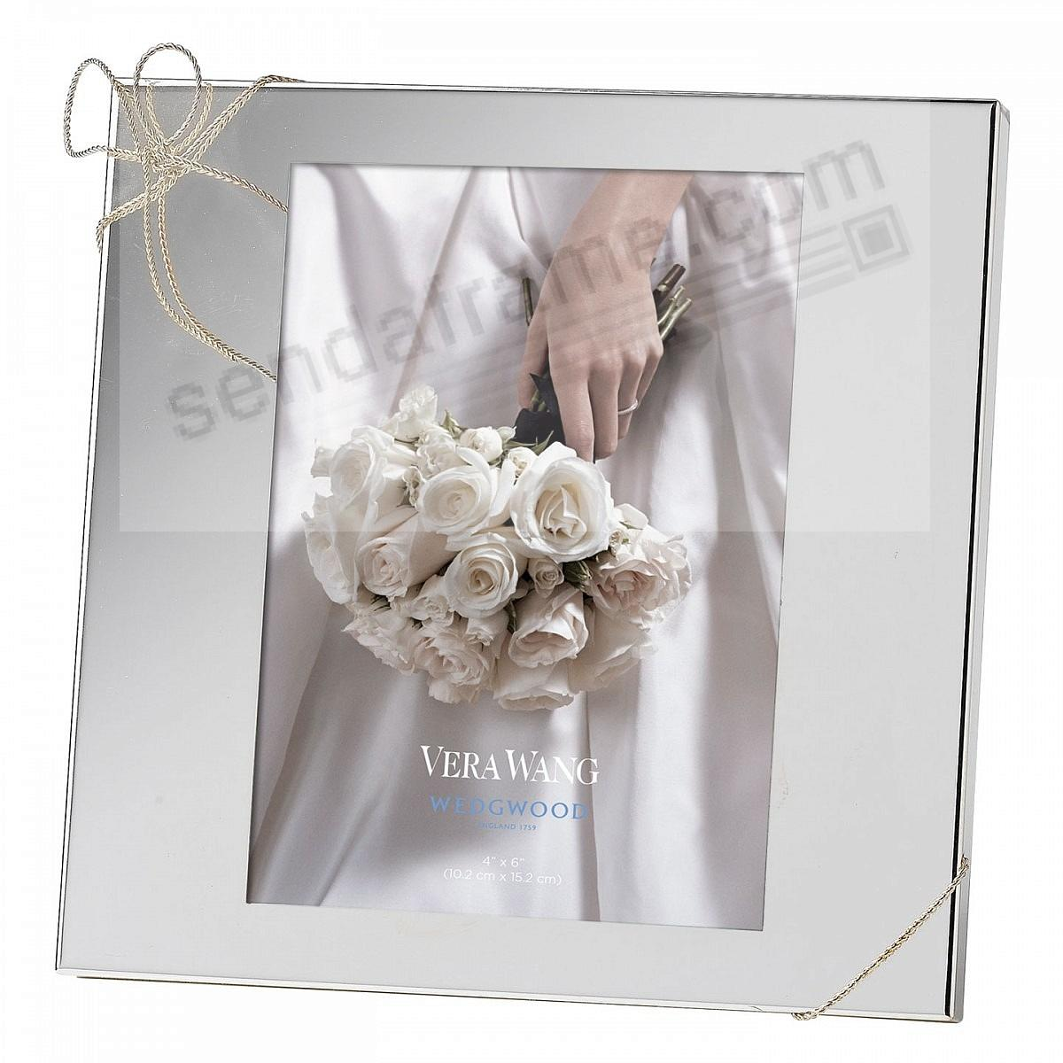 LOVE KNOTS Silver pattern 4x6 frame by Vera Wang®