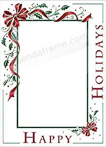 Holiday Bow Photo Insert Christmas Card Sold In 10s