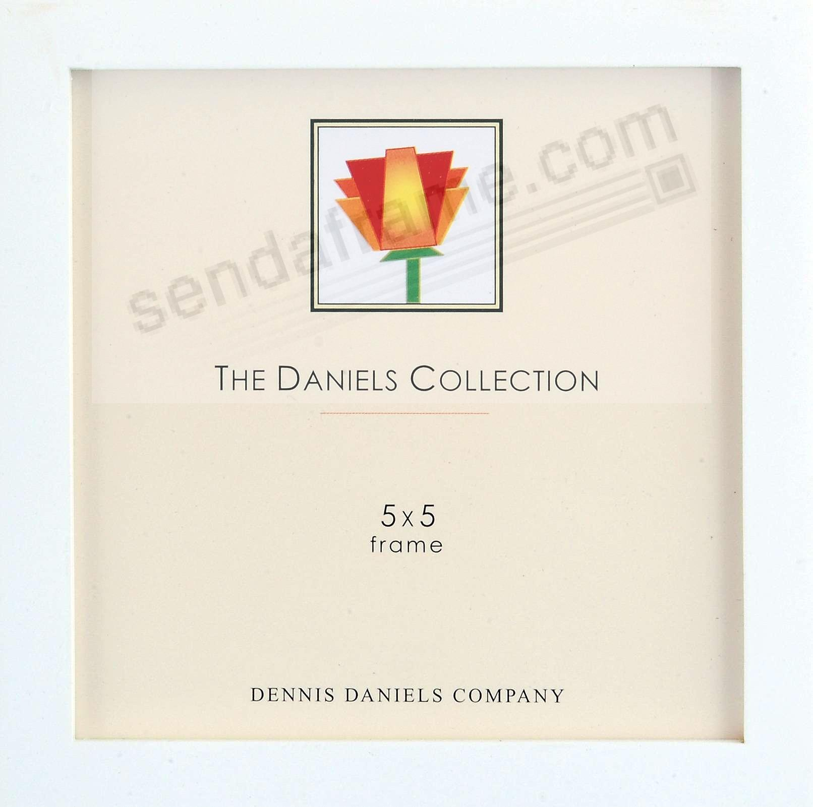 The Original DANIELS W41: Square Corner GALLERY WOODS Bright White finish square 5x5 frame by Dennis Daniels®