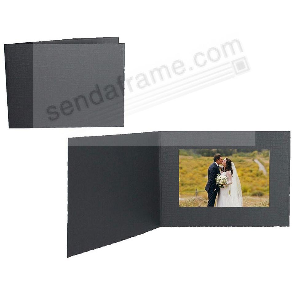 Black Cardboard Event Photomount Folder 6x4 frame w/plain border (sold in 25s)