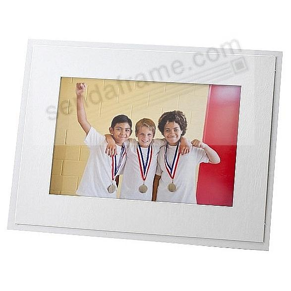 STURDY EASEL Soft White<br>5x7 photo frame (sold in 6s)