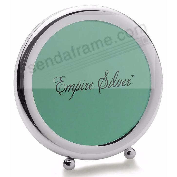 RETRO Fine Pewter round<br>with Adorable Ball Feet by Empire Silver&reg;