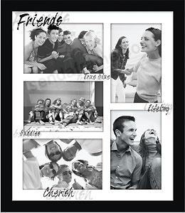 friends reflection shadow collage displays 5 picture frames photo albums personalized and engraved digital photo gifts sendaframe