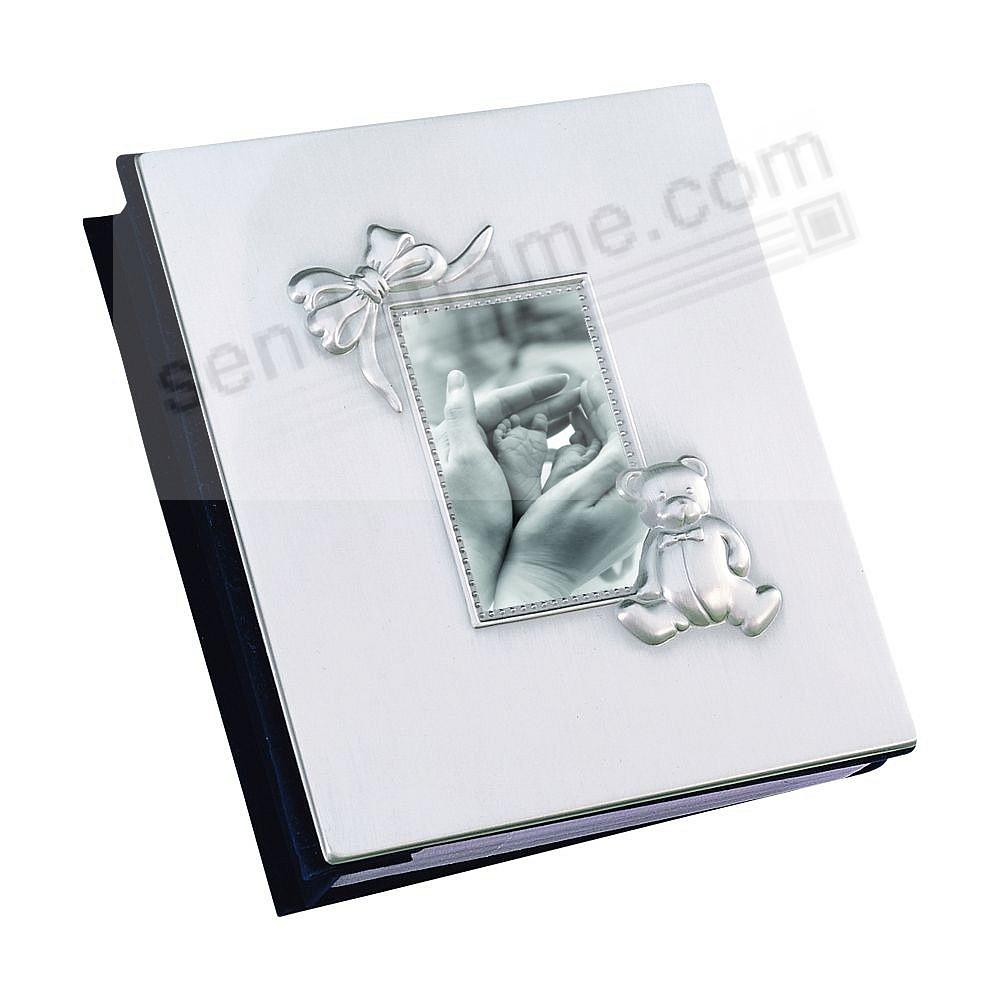Silverplate baby album with cover window