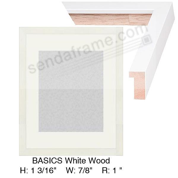 Custom-Cut BASICS™ White Wood H:1-3/16 W:7/8 R:1
