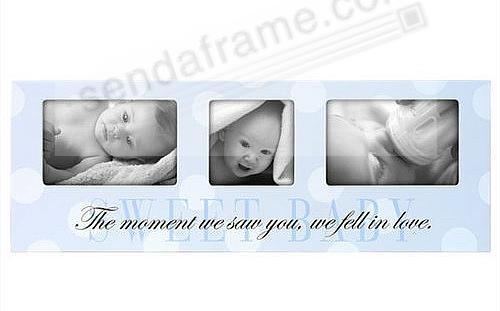 Adorable Sweet Baby Blue Sentimental Collage Picture