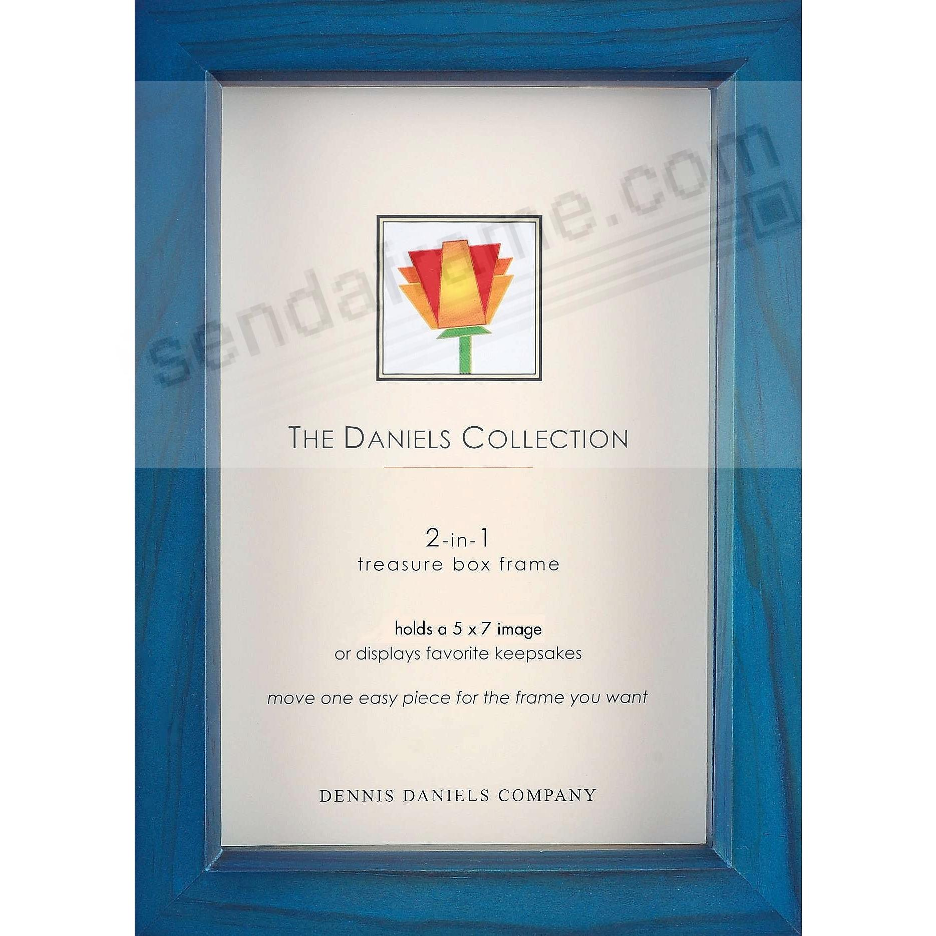 Ocean-Blue wood stain 5x7 shadow box ½in deep for your print or collectibles by Dennis Daniels®