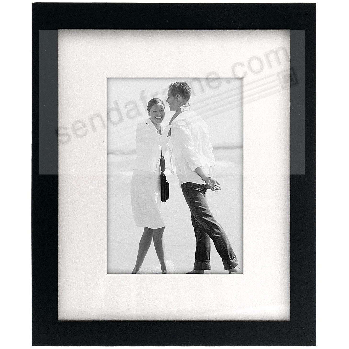 LINEAR WOOD Black Frame with 8x10/5x7 coordinated mat by Malden®