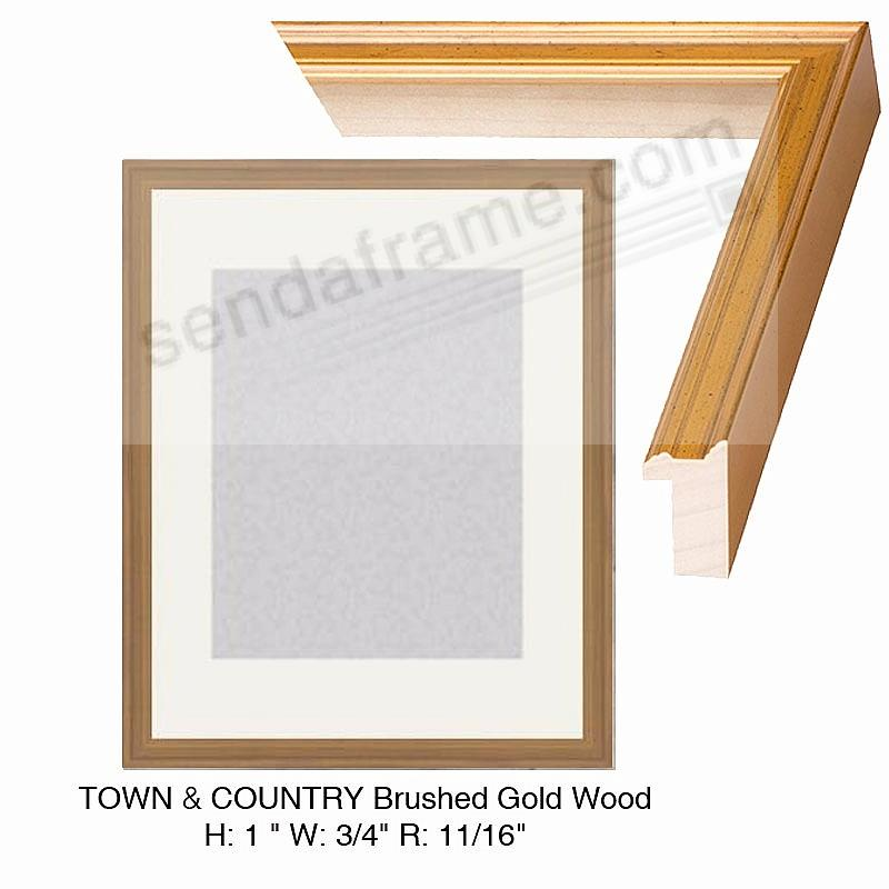 Custom-Cut™ Town + Country Brushed Gold Leaf H:1 W:3/4 R:11/16