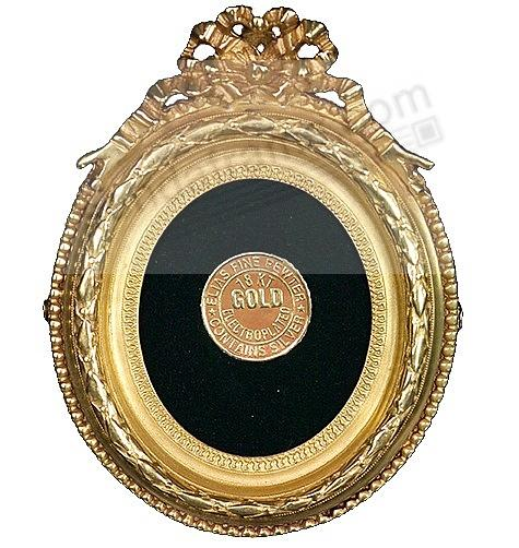 RIBBON WREATH 18kt Museum Gold Vermeil over fine pewter<br>by Elias Artmetal&reg;