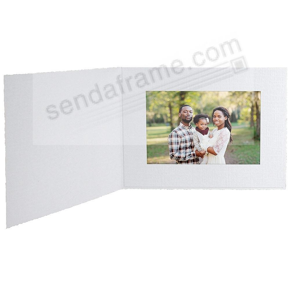 White Cardboard Photomount Folder 6x4 Frame w/plain border (sold in 25s)