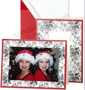 Elegant Black Toile holiday photomount cards by Crane & Co.® (sold in 10's)