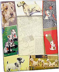 Vintage SEALYHAM TERRIER dog Decoupage picture frame by Blankety Blank™