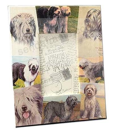 Vintage SHEEP DOG decoupage frame by Blankety Blank™