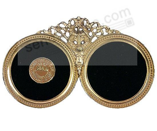 DOUBLE BEADED CIRCLES 18kt Museum Gold Over Fine Pewter<br>by Elias Artmetal&reg;