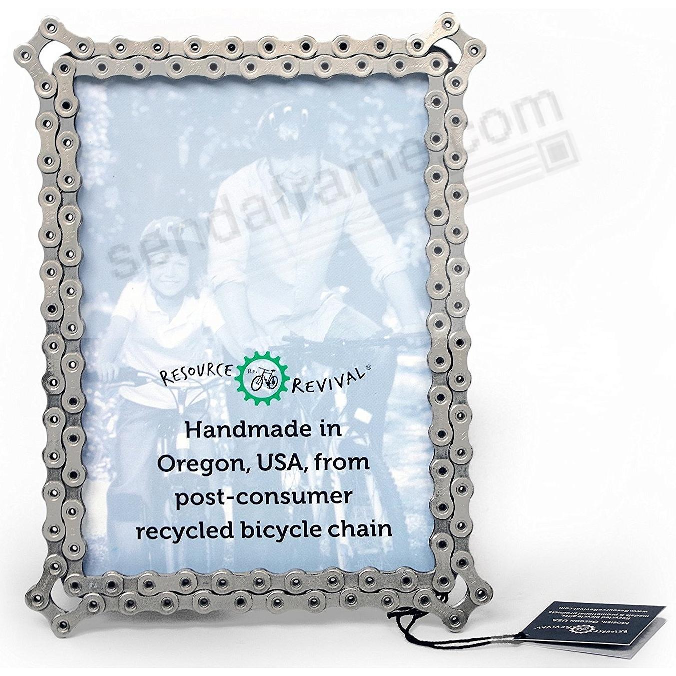 Recycled Bike Chain 4x6 frame by Resource Revival®