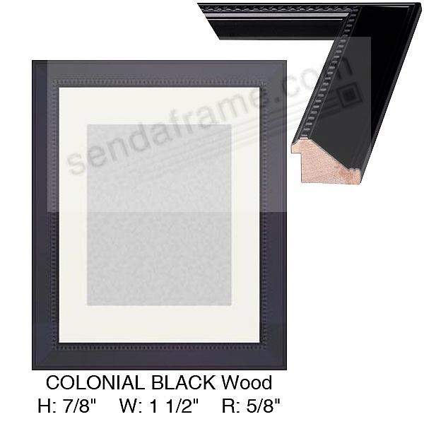 COLONIAL Black Ash with beaded trim Custom-Cut™ H:7/8 W:1-1/2 R:5/8