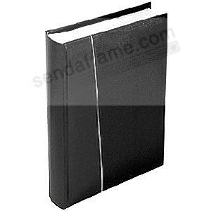 Modern 6-per-view black faux-leather album holds 300 photos by Malden Design®