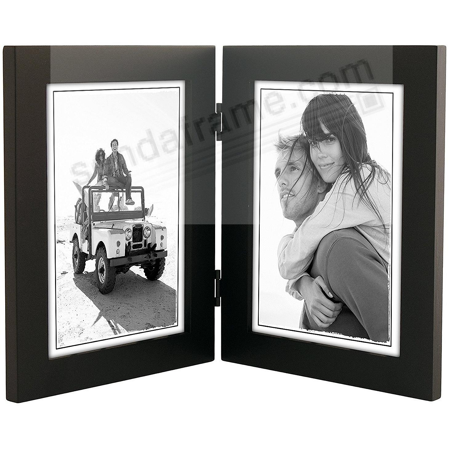 linear black hinged double 5x7 frame by malden designreg
