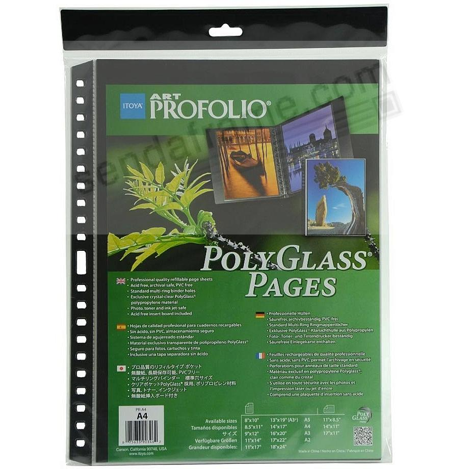 Genuine Itoya® PolyGlass® refills for multi-ring 11x14 albums