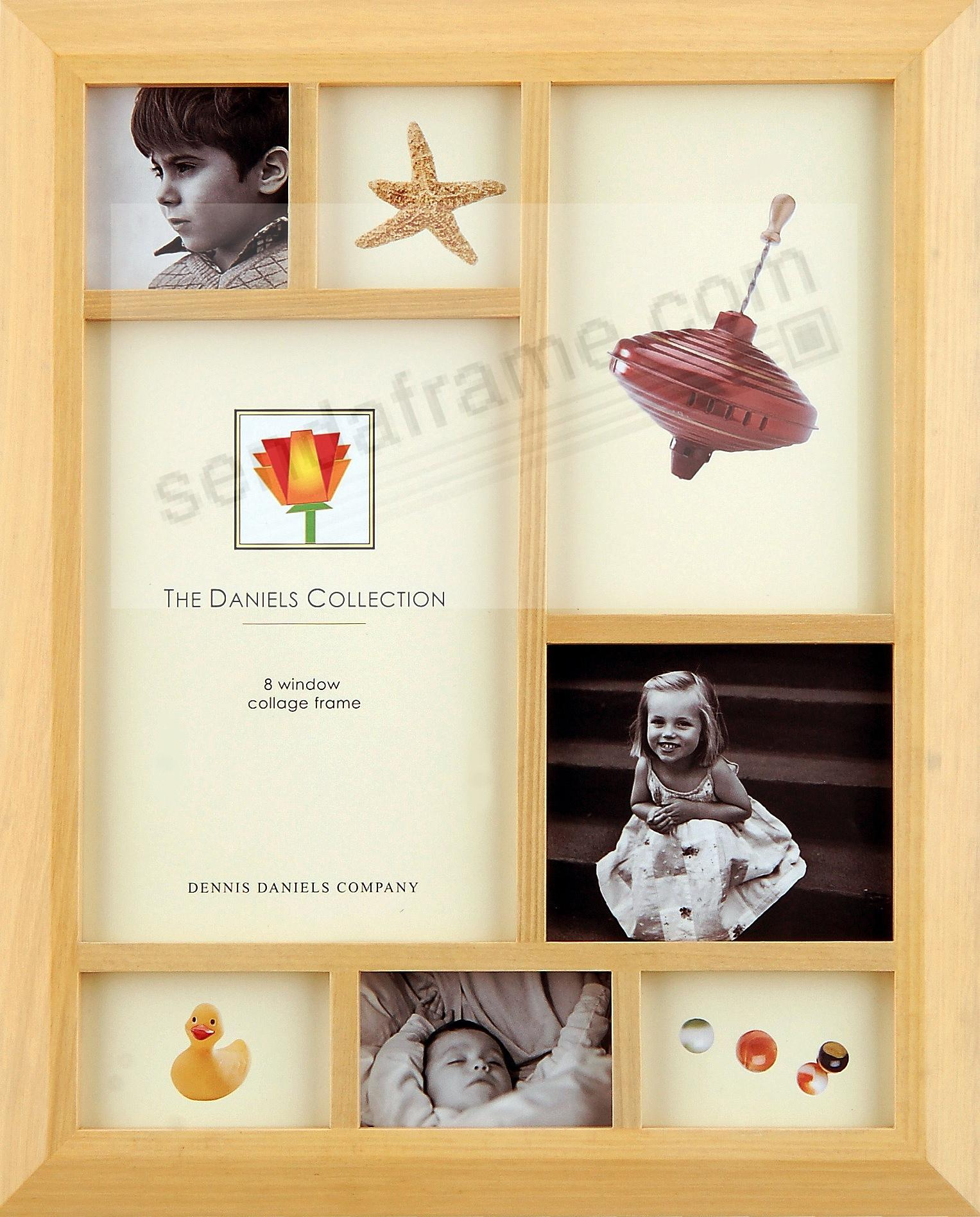 8-opening Collage frame in Natural Wood by Dennis Daniels - Picture ...