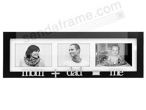 MOM+DAD=ME special black trio wall collage frame - Picture Frames ...