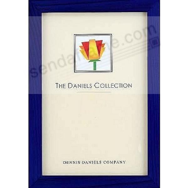 The Original DANIELS W41: Square Corner GALLERY WOODS blue-stain finish 8x10 frame by Dennis Daniels®