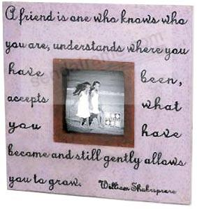 friendship keepsake frame in lilac by sixtrees picture frames photo albums personalized and engraved digital photo gifts sendaframe