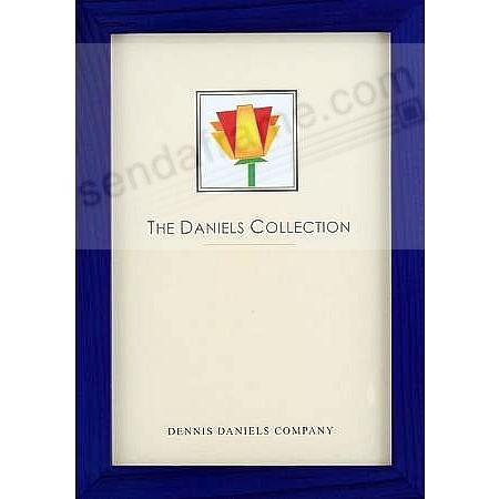 The Original DANIELS W41: GALLERY WOODS blue-stain 5x7 frame by Dennis Daniels®