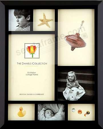 Collage in black-ebony finish for special photo stories by Dennis Daniels®