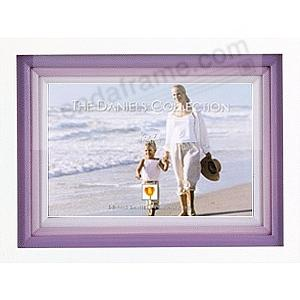 White FOND IMPRESSIONS with triple lavender wood mat by Dennis Daniels®