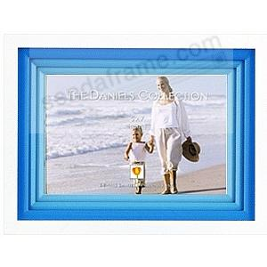 White FOND IMPRESSIONS with triple blue wood mat by Dennis Daniels®