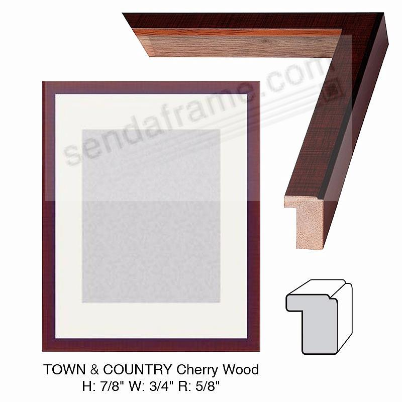 Custom-Cut™ Town + Country Cherry Wood Stain H:1 W:1-3/8 R:7/16