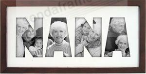 n a n a special walnut wall cut out collage picture frames photo albums personalized and engraved digital photo gifts sendaframe - Nana Picture Frame