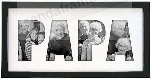 P-A-P-A special black wall cut-out collage - Picture Frames, Photo ...