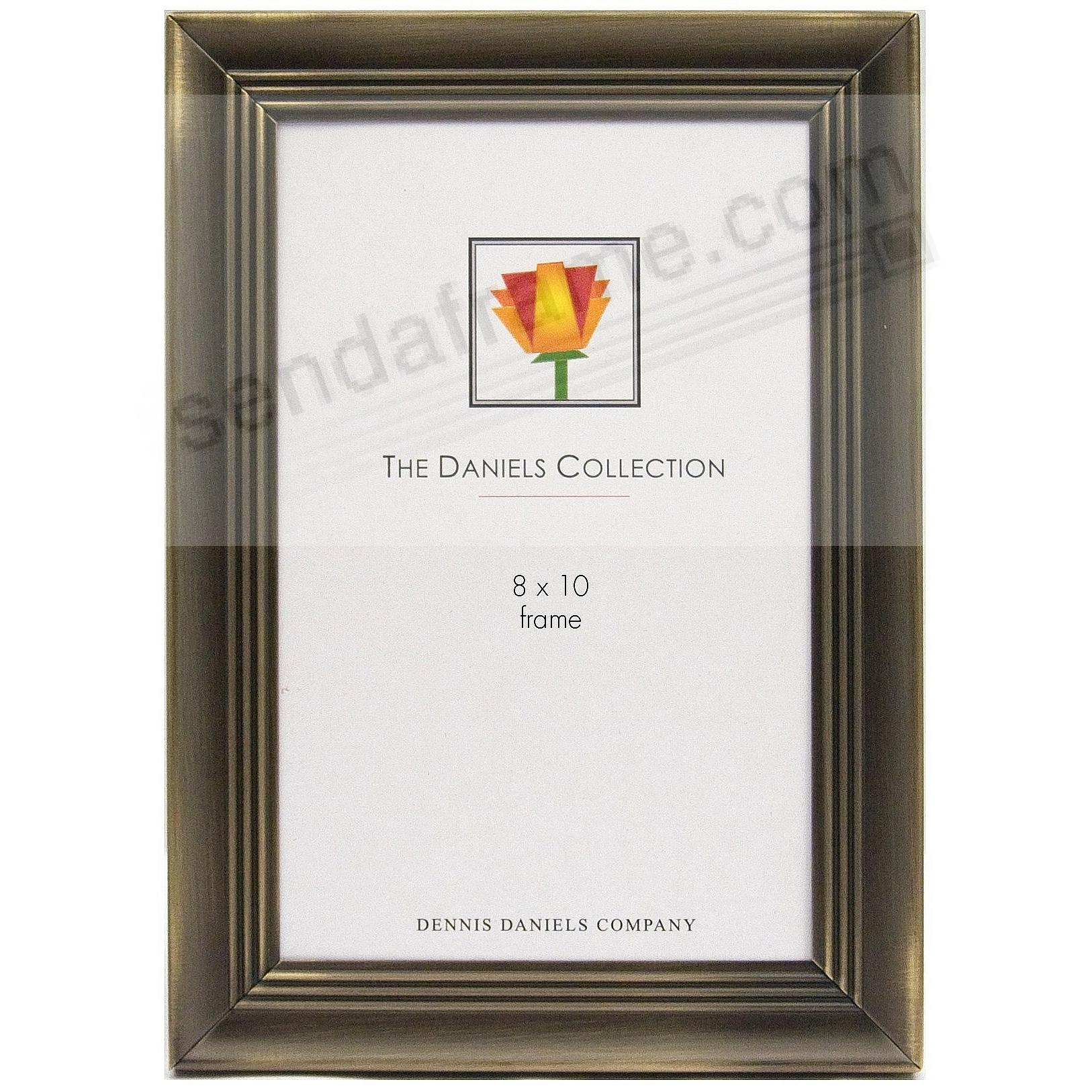 STEEL CONTOUR Ridged Antique-Brass finish 8x10 frame