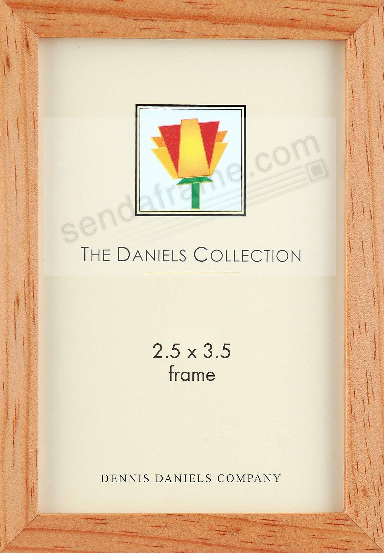 The Original DANIELS W41: Square Corner GALLERY WOODS classic in rich natural-stain by Dennis Daniels®