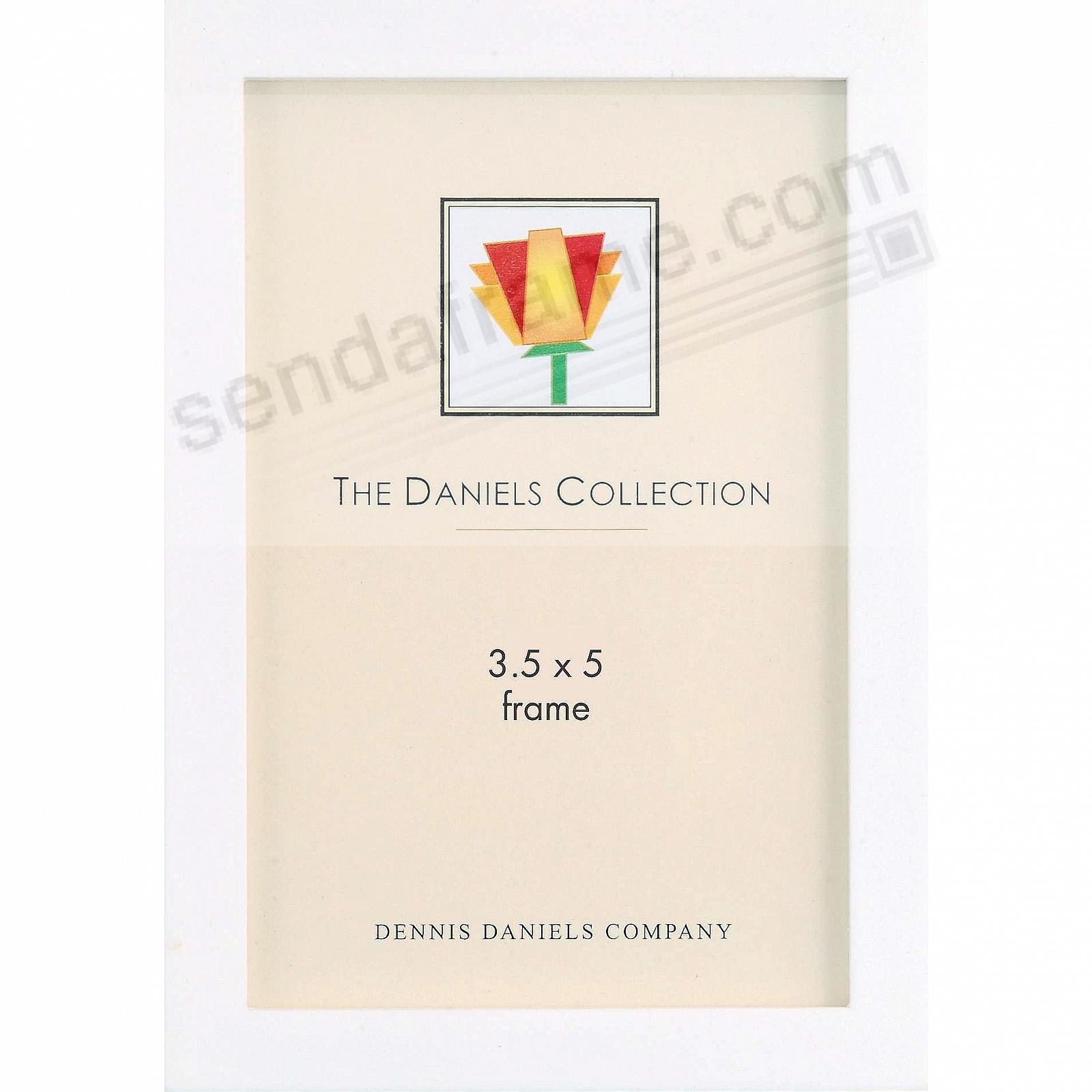 The Original DANIELS W41: Square Corner GALLERY WOODS Bright White finish by Dennis Daniels®